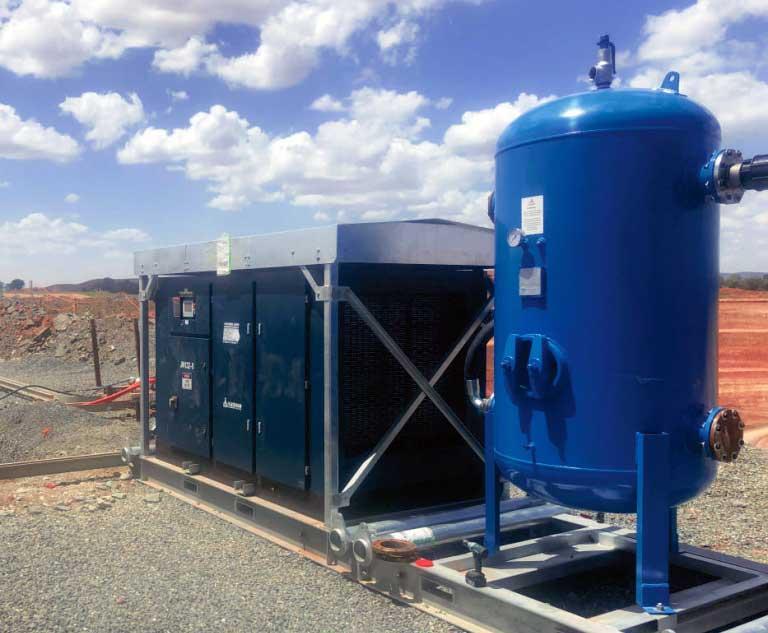 سیستم تولید هوای فشرده در معادن